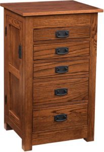 35 inch Mission Jewelry Armoire