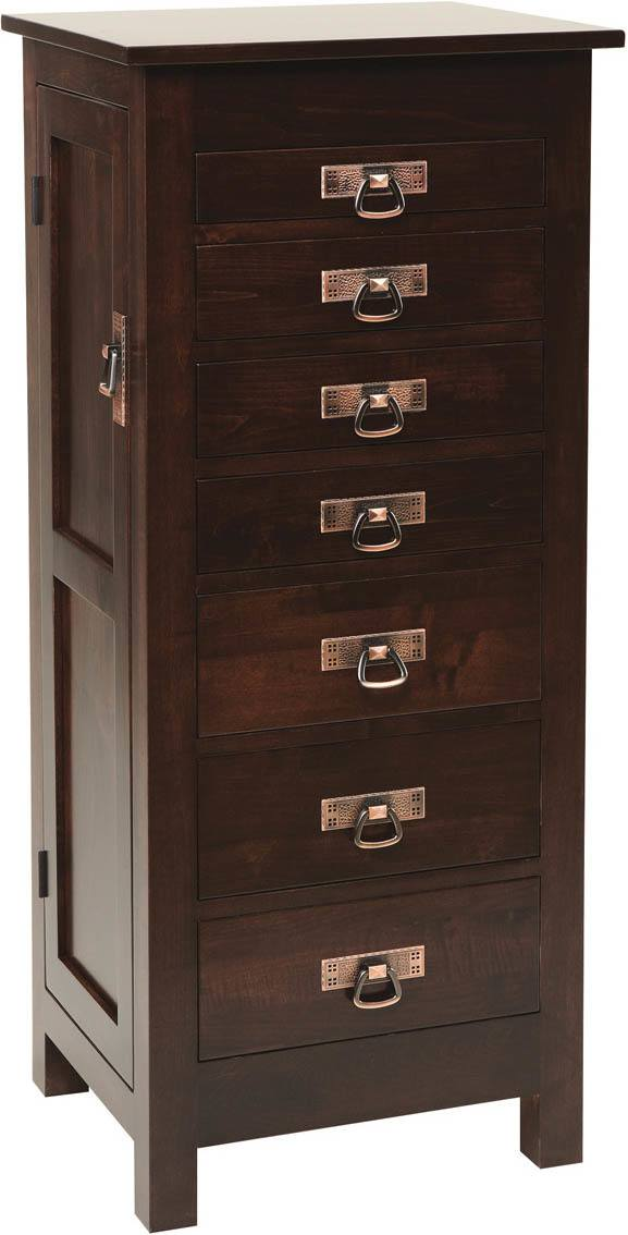 48 inch Mission Jewelry Armoire