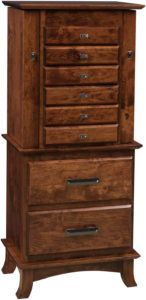 48 inch Split Shaker Jewelry Armoire