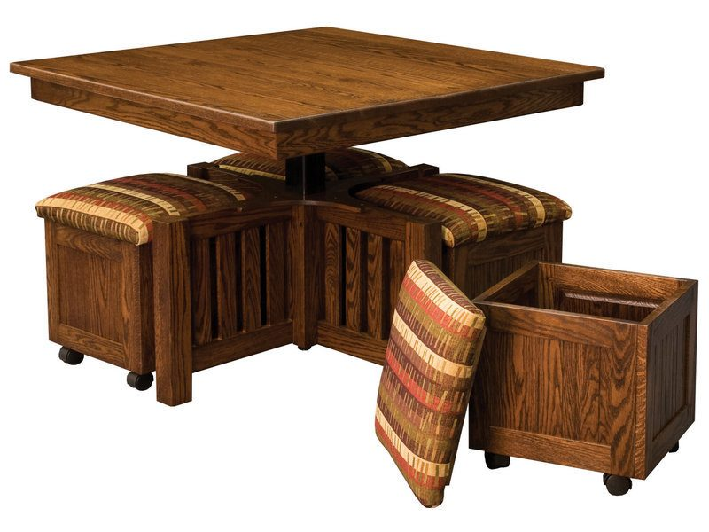 5 Piece Square Table Bench Set