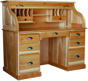 56 Inch Wood Roll Top Desk