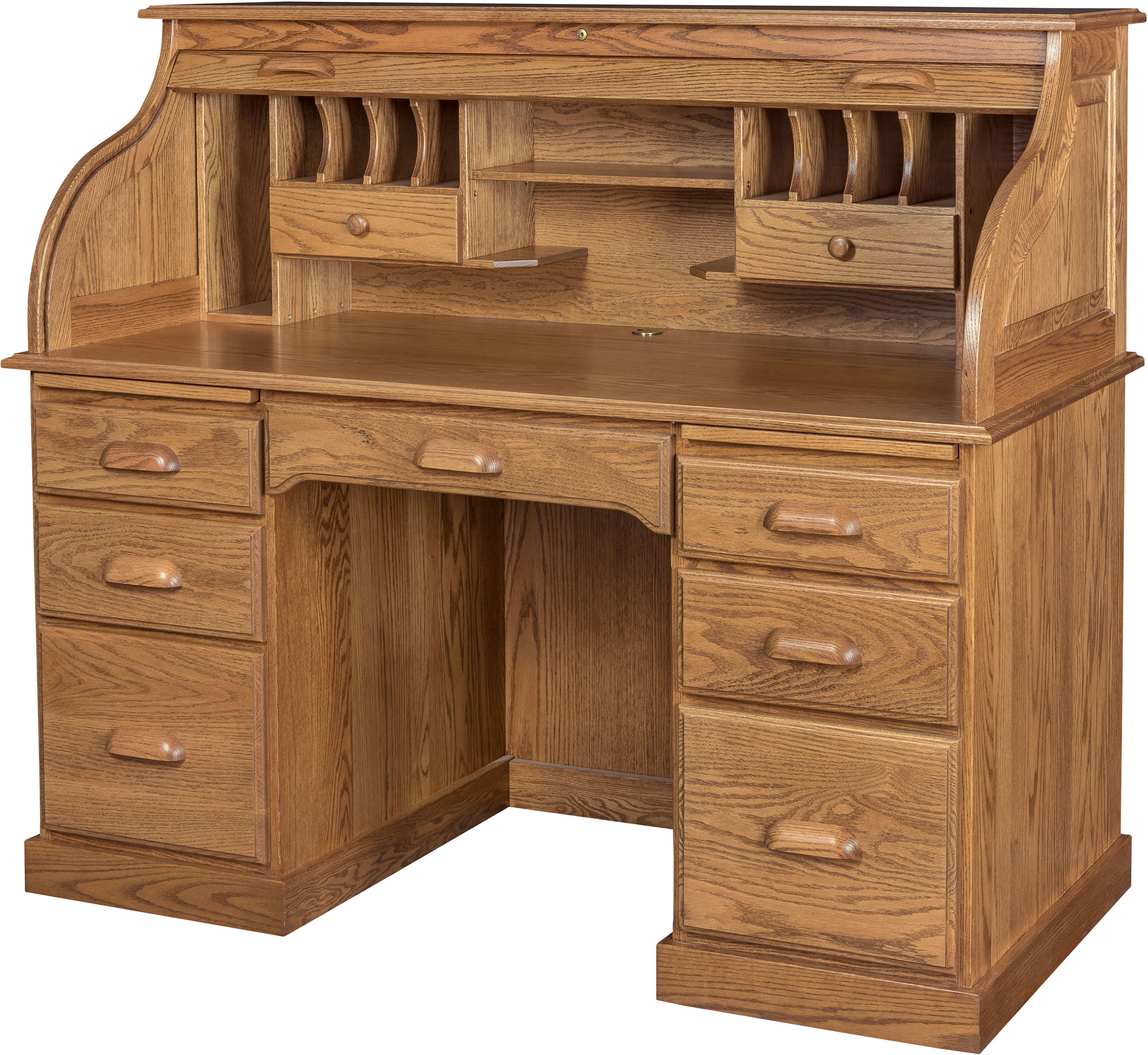 56 Inch Roll Top Desk And Hutch Amish 56 Inch Roll Top