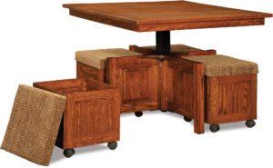 5-Piece Square Table Bench Set