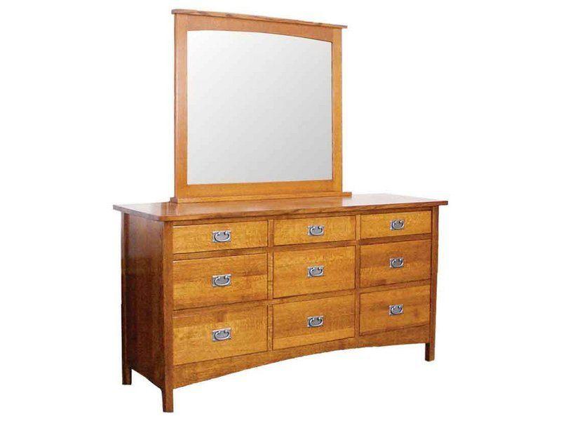 Arts and Crafts Nine Drawer Dresser