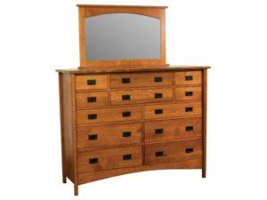 Arts and Crafts Twelve Drawer Dresser