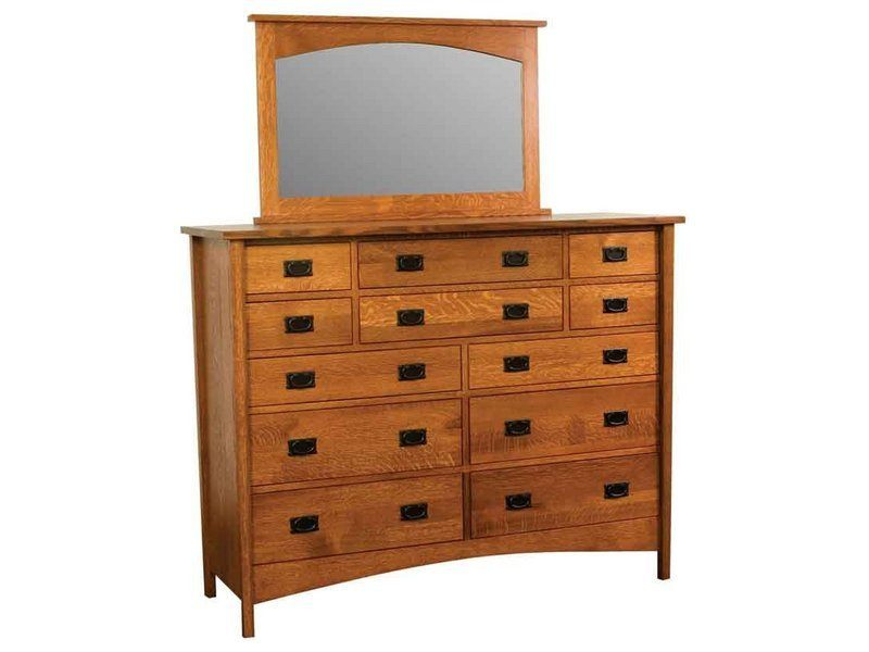 Arts and Crafts Twelve Drawer Dresser