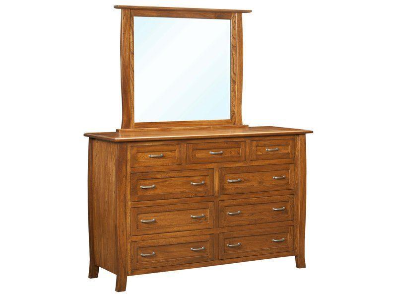 Batavia Nine Drawer Dresser with Mirror