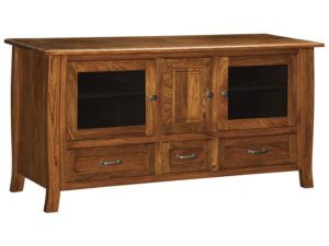 Batavia Three Drawer, Three Door Plasma Stand