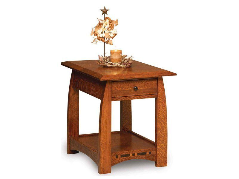 Boulder Creek End Table Customizable Amish End Table