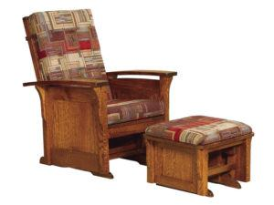 Bow Arm Panel Glider and Ottoman
