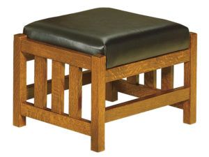 Bow Arm Slat Morris Footstool
