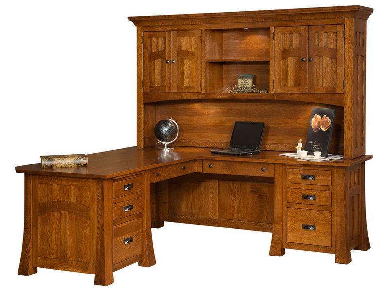 Bridgefort Mission Corner Desk With Topper Brandenberry