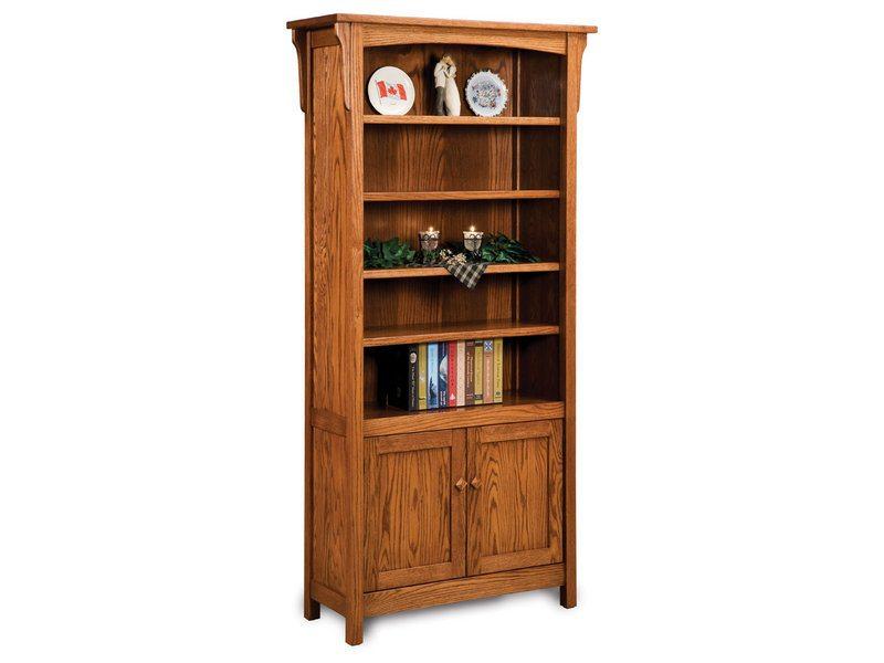 Bridger Mission Four Shelf, Two Door Bookcase