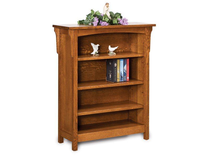 Bridger Mission Oak Three Shelf Bookcase