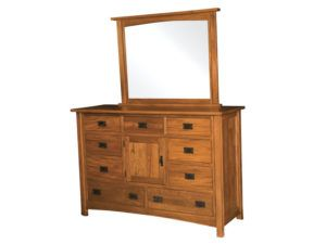 Brooklyn Mission Nine Drawer, One Door Dresser with Mirror