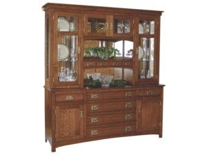 Cape Cod Six Door Mission Hutch
