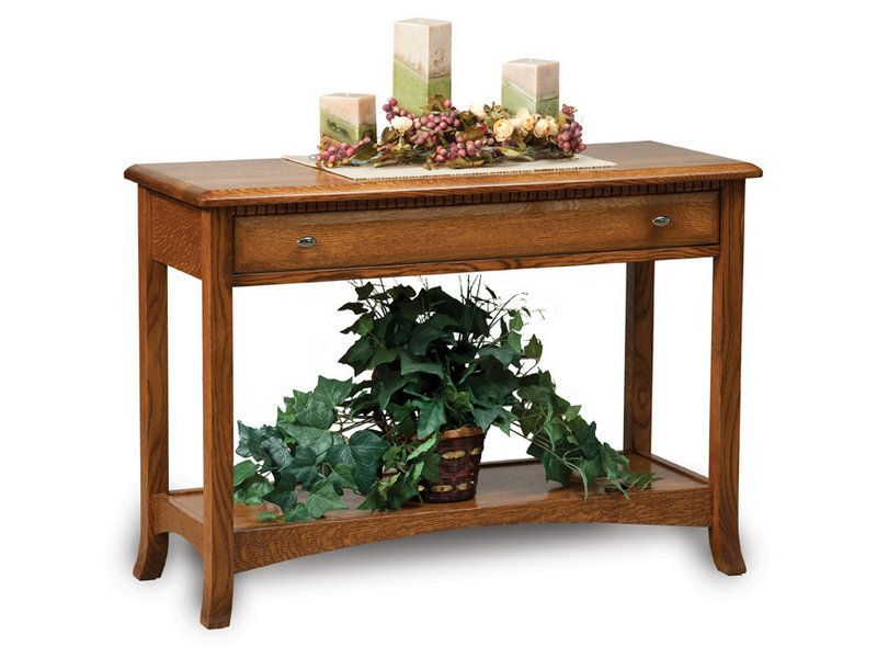 Carlisle Open Sofa Table with Drawer