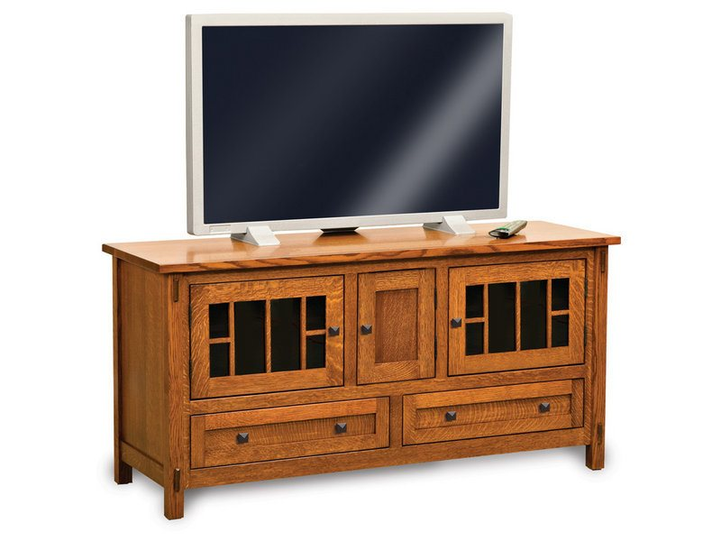 Amish Centennial Three Door, Two Drawer LCD Stand