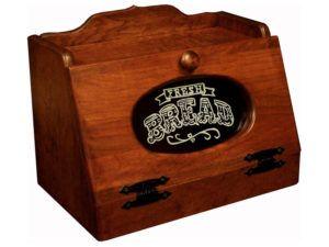 Cherry Bread Box with Plexiglas Front