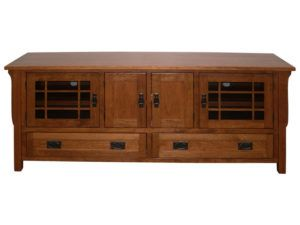 Cherry Landmark 72 Inch Plasma TV Cabinet