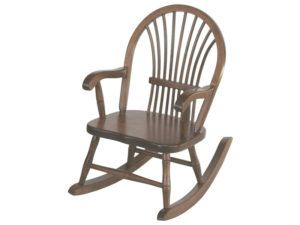 Child's Brown Maple Sheaf Rocker