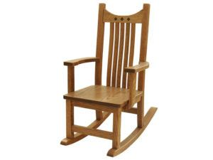 Child's Oak Royal Mission Rocker