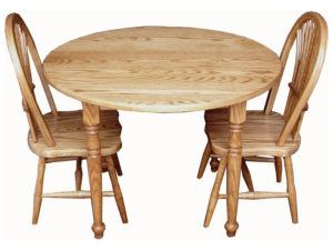 Child's Round Table Set with Two Sheaf Chairs