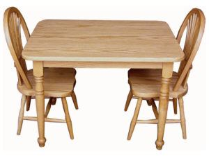 Child's Table Set with Two Sheaf Chairs (Oak)