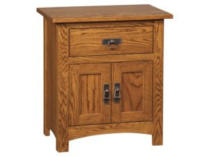 Classic Mission One Drawer, Two Door Nightstand