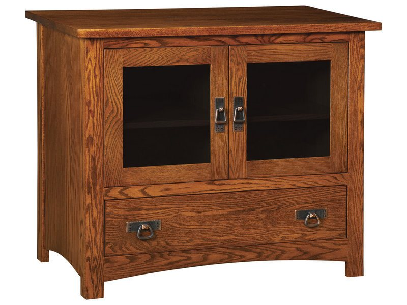 Classic Mission Two Door, One Drawer Plasma Stand