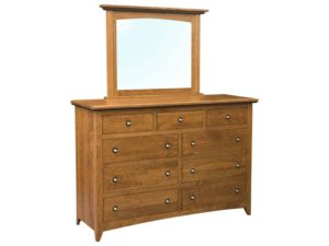 Classic Shaker Dresser with Mirror