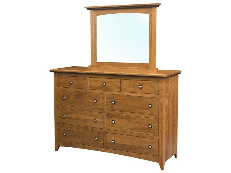 Classic Shaker Nine Drawer Dresser