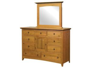 Classic Shaker Nine Drawer Dresser with Door