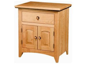 Classic Shaker One Drawer, Two Door Nightstand