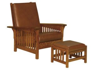 Clearspring Slat Morris Chair and Footstool