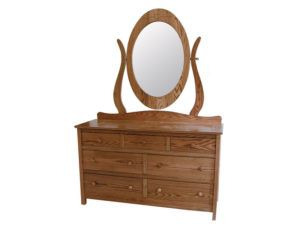 Country Mission Large Oval Mirror