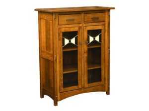 Crestline Two Door Cabinet with Glass Panels