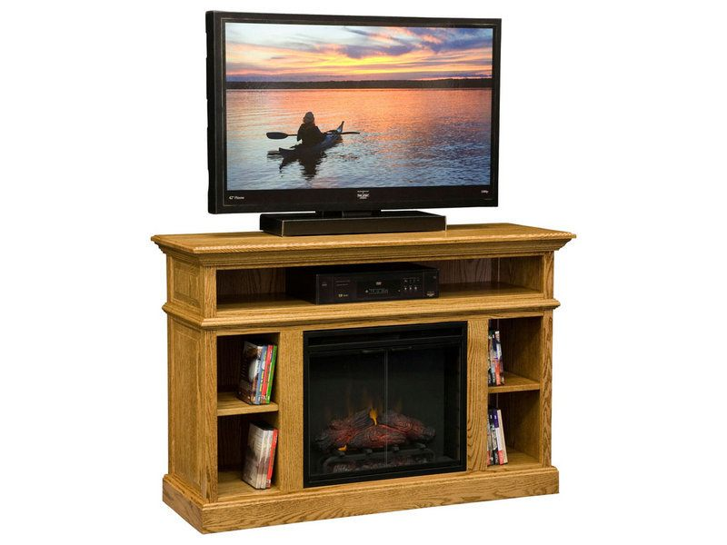 Dn Fireplace Media Console Custom Amish Media Console