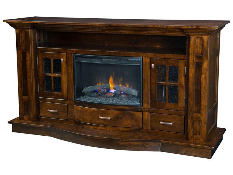 Bryant Fireplace Media Console | Custom Media Console