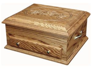 Deluxe Jewelry Chest with Rose Engraving