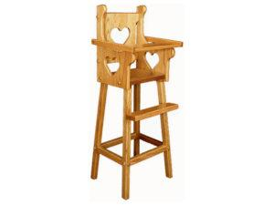 Doll Highchair with Heart