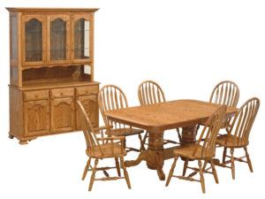 Double Pedestal Dining Set