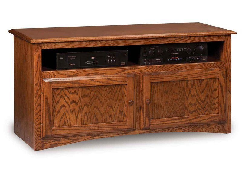 Durham Two Door TV Stand with Media Opening