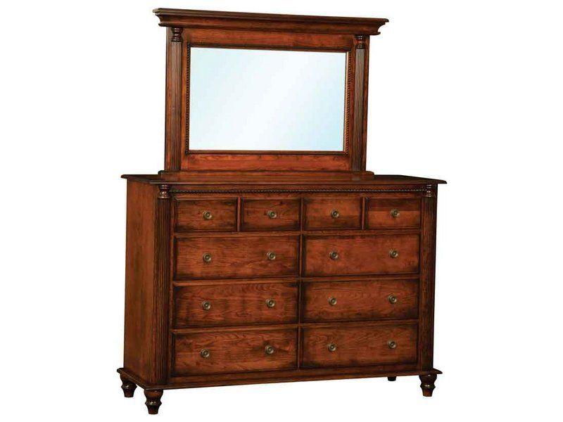 Ellyons Ten Drawer Dresser with Mirror