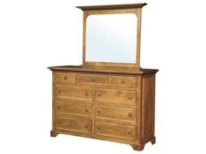 Escalade Nine Drawer Dresser with Mirror