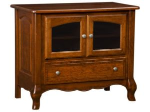French Country One Door, Two Drawer Plasma Stand