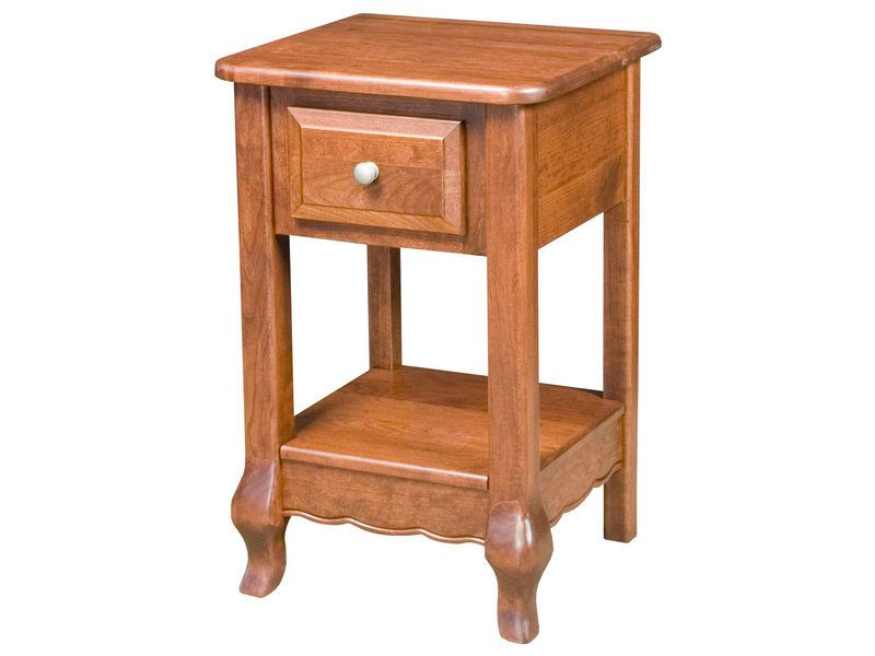 French Country One Drawer Nightstand