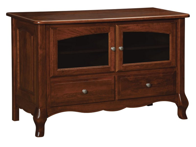 French Country Two Door, Two Drawer Plasma Stand