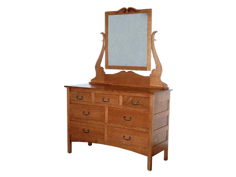 Granny Mission Dresser with Mirror