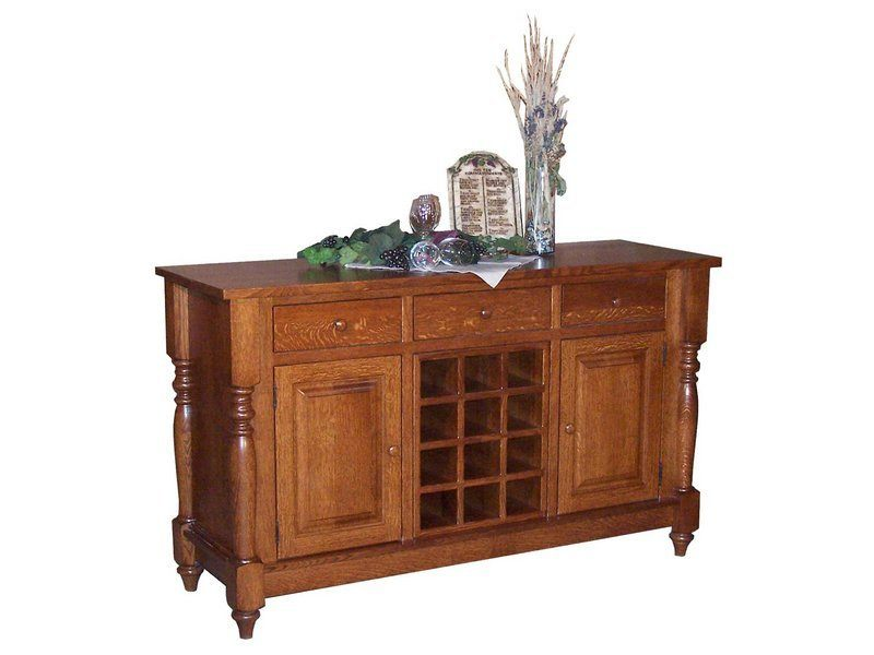 Harvest Buffet with Wine Rack